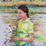 watercolor paintings on paper. size: 26 /36.5 cm.
